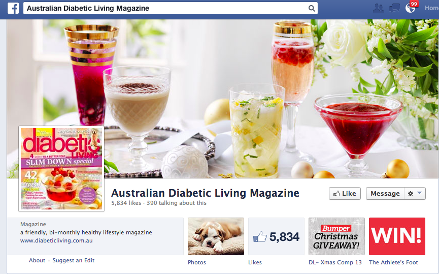 Curated content australia diabetic magazine on facebook for Country living magazine phone number